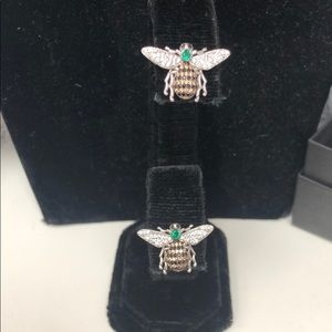 Bee-Amazing CZ .925 Sterling Silver Earrings,NWT